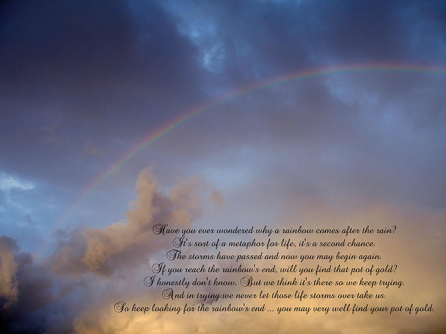 Rainbow Photograph - A Second Chance by Ginger Howland