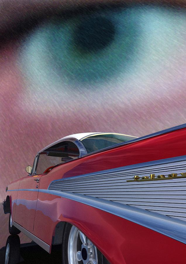 Classic Cars Digital Art - A Second Look by Richard Rizzo
