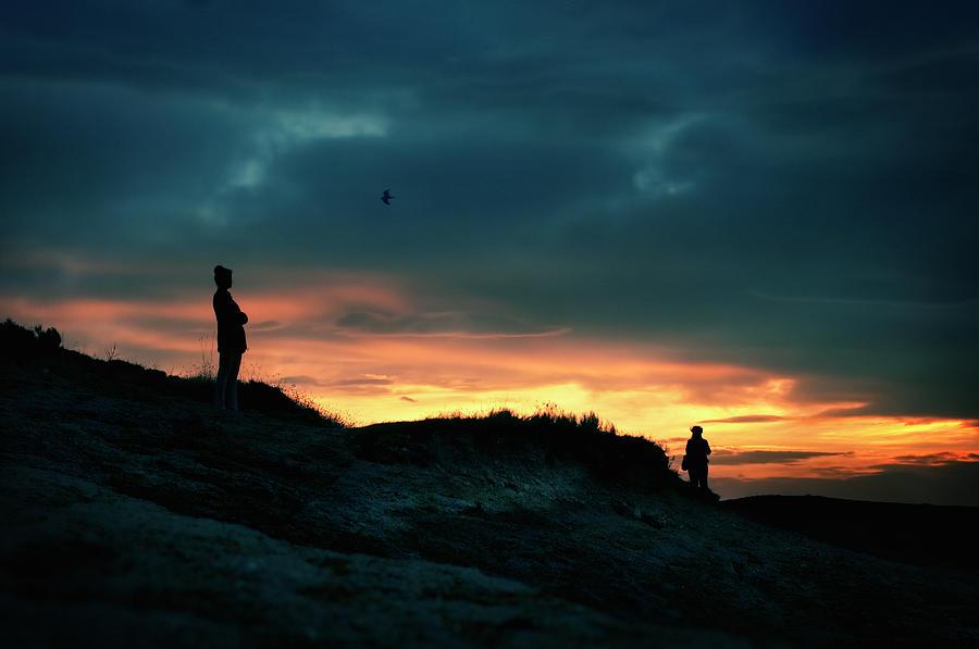 Silhouettes Photograph - A Sense Of Loss by Zapista Zapista