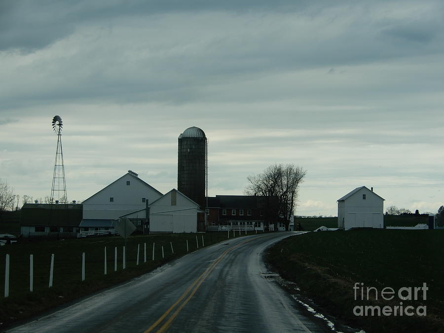 Amish Photograph - A Serene Evening by Christine Clark
