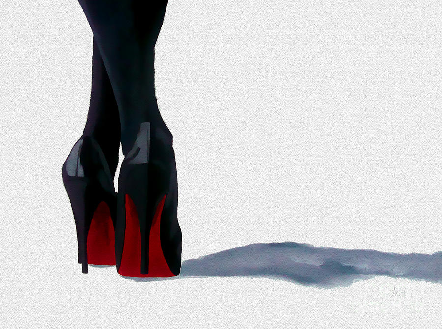 Fashion Painting - A Shade Of Louboutin by My Inspiration