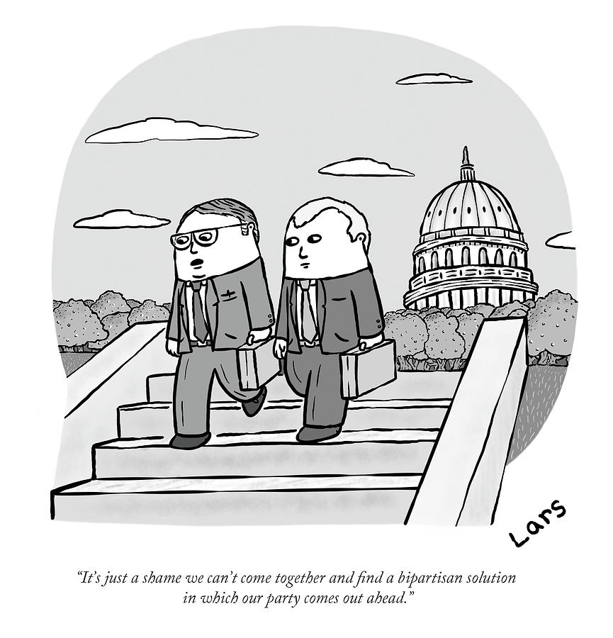 A Bipartisan Solution In Which Our Party Comes Out Ahead Drawing by Lars Kenseth