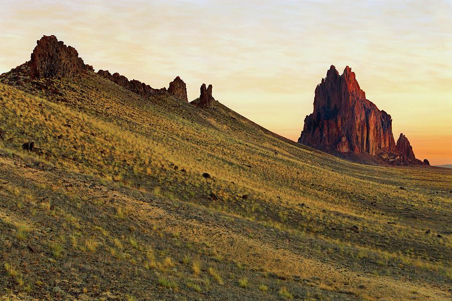 Shiprock Photograph - A Shiprock Sunrise - New Mexico - Landscape by Jason Politte
