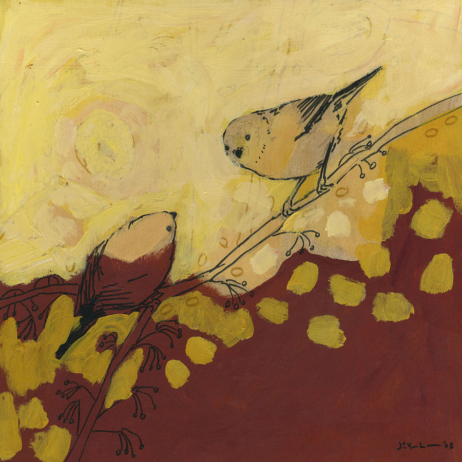 Bird Painting - A Short Pause by Jennifer Lommers