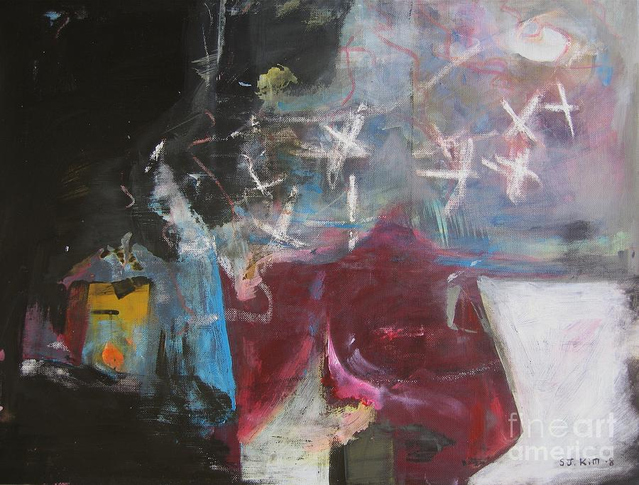 Abstract Paintings Painting - A Short Story by Seon-Jeong Kim