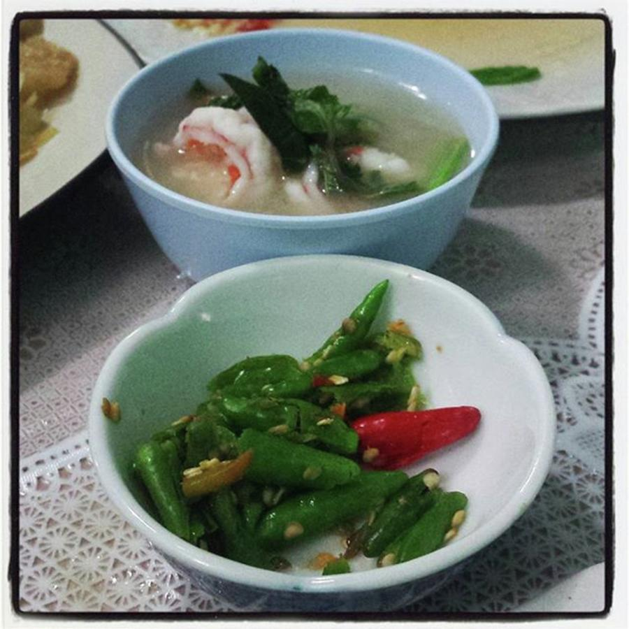 A Side Of Tom Yum Goon With Your Photograph by Mr Photojimsf