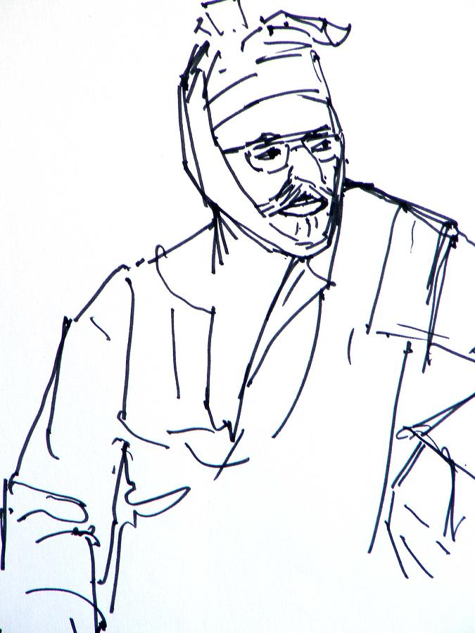 a Sikh person Drawing by Naveen Wagh