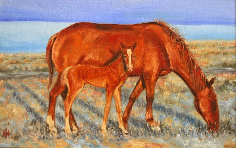 Horse Painting - A Silence by Yevgeniy Dubkov