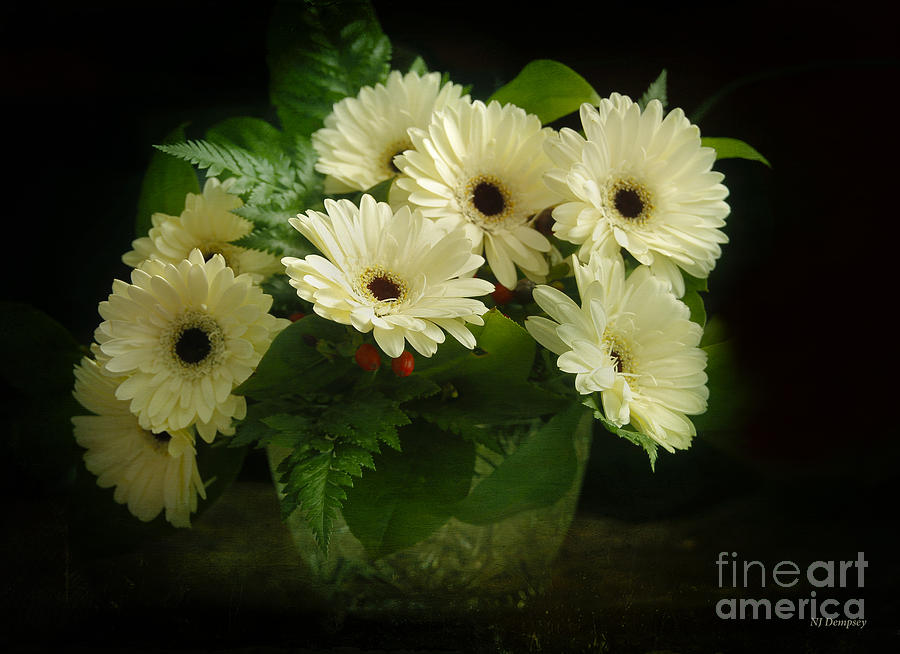 Flowers Photograph - A Simple Bouquet by Nancy Dempsey