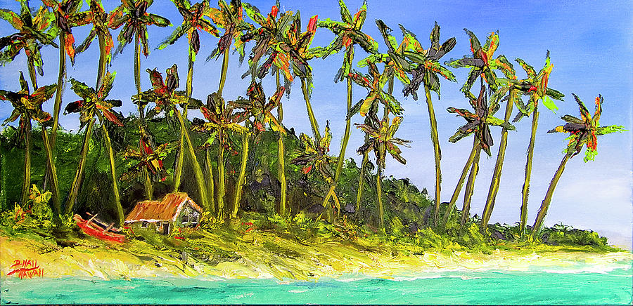Beach Painting - A Simple Life#374 by Donald k Hall