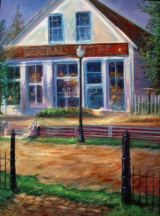 General Store Painting - A Simpler Time by Tommy  Winn