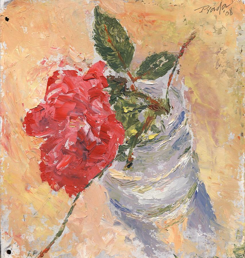 Still Life Painting - A Single Rose by Horacio Prada