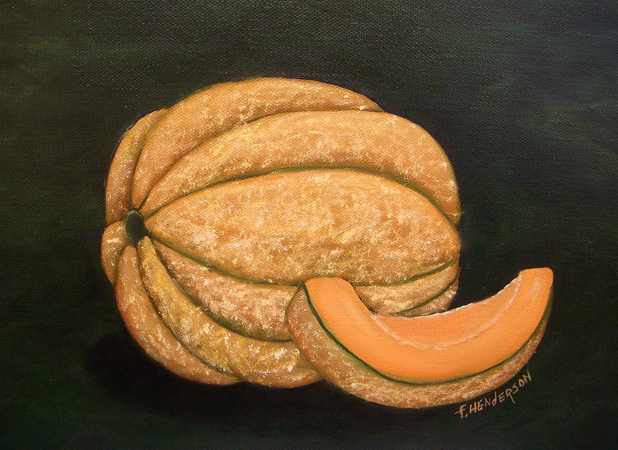 Melon Painting - A Slice of Melon by Francine Henderson