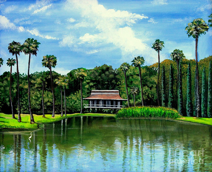 Landscape Painting - A Slice Of Paradise by Elizabeth Robinette Tyndall