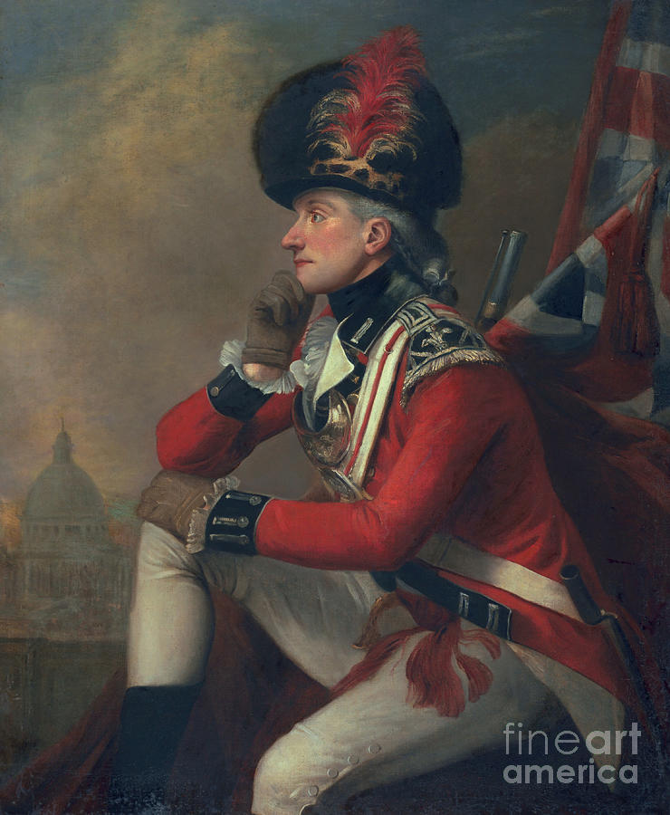18th Century Painting - A Soldier Called Major John Andre by English School