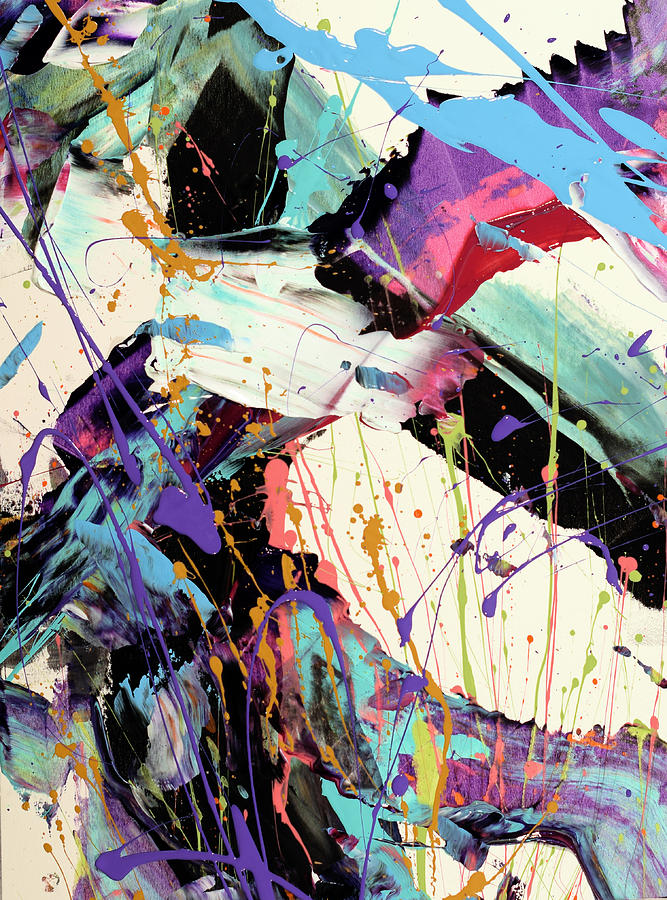 Abstract Painting - A Space Of Possibles Abstract by Erika Pochybova