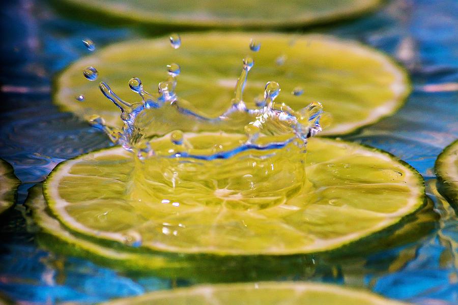 Food Photograph - A Splash Of Lime by Montez Sattman