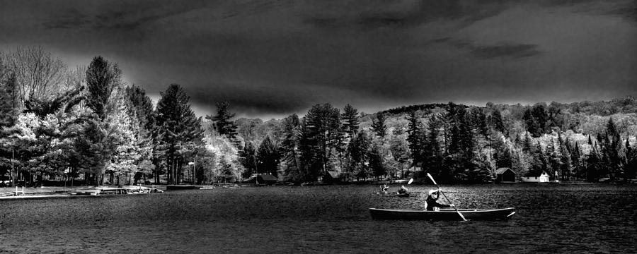 Paddlefest Photograph - A Spring Day On Old Forge Pond by David Patterson