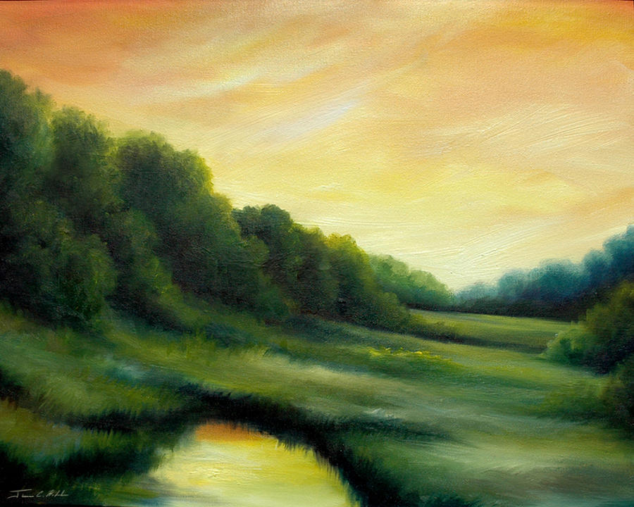 Clouds Painting - A Spring Evening Part Two by James Christopher Hill