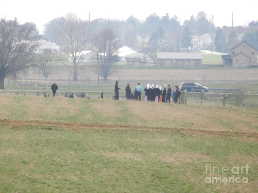 Amish Photograph - A Spring Gathering by Christine Clark