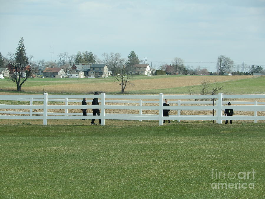 Amish Photograph - A Spring Recess Day by Christine Clark