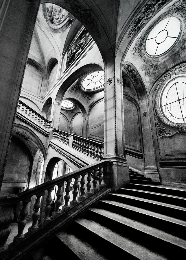 A Stairwell in the Louvre, Paris by Maggie McCall