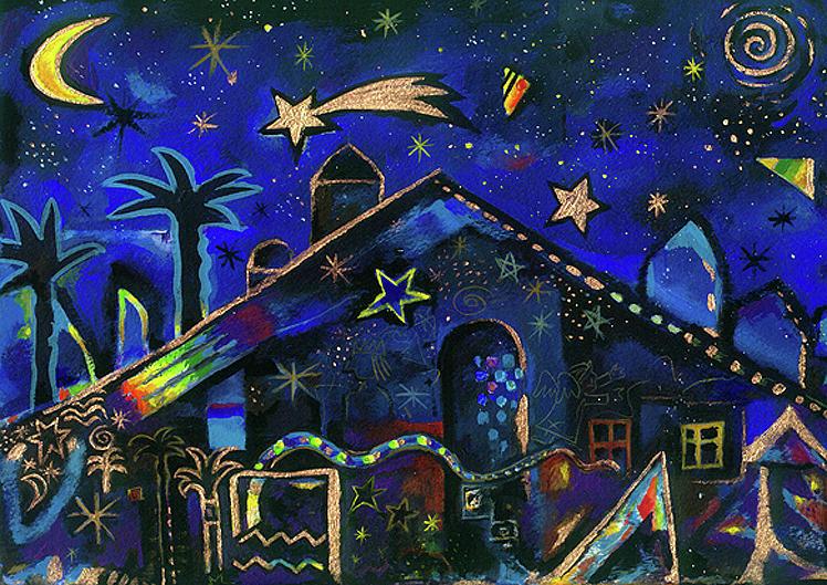 Bethlehem Pastel - a star in Bethlehem by Johannes Margreiter