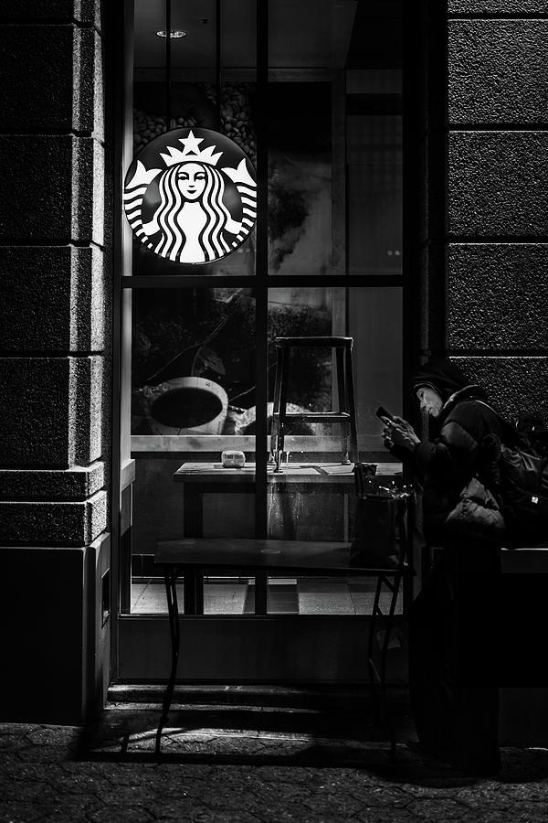 Starbucks Photograph - A Starbucks Respite In Downtown San Jose by Edward Nowak