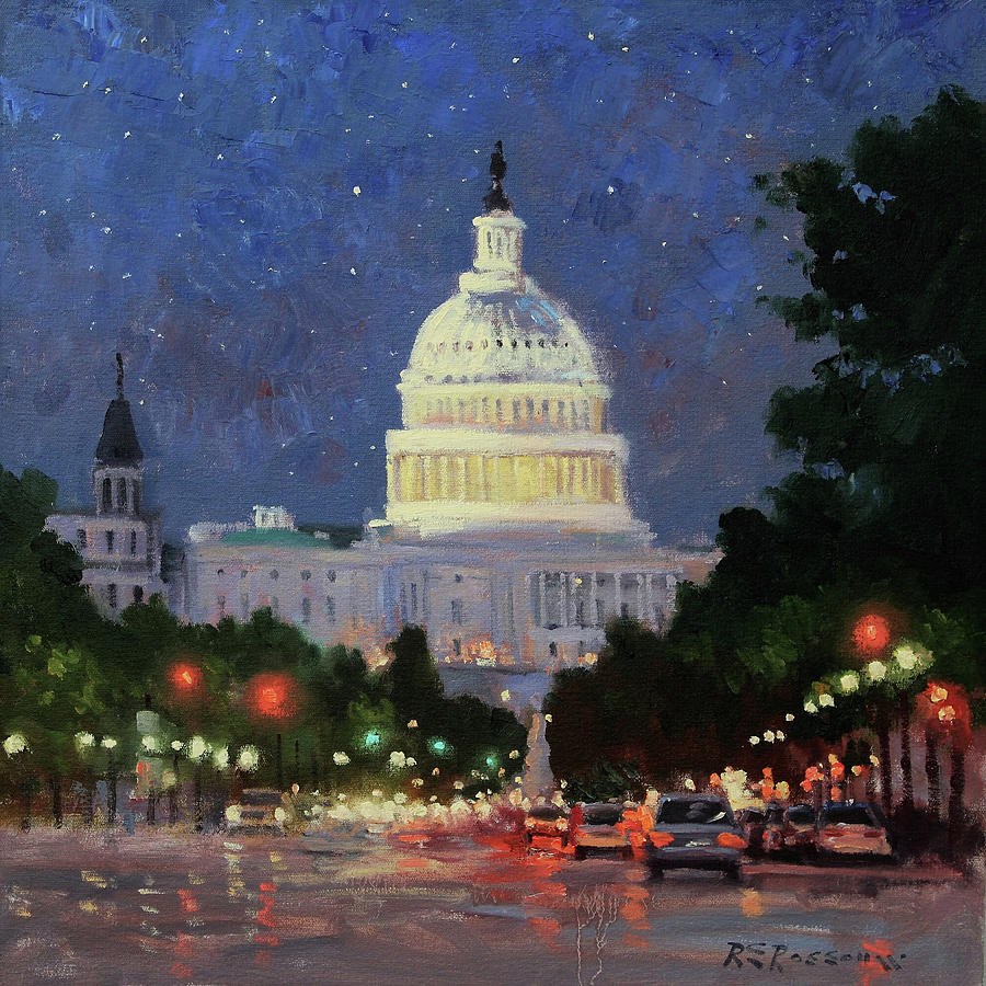 A Starry Night in DC by Roelof Rossouw