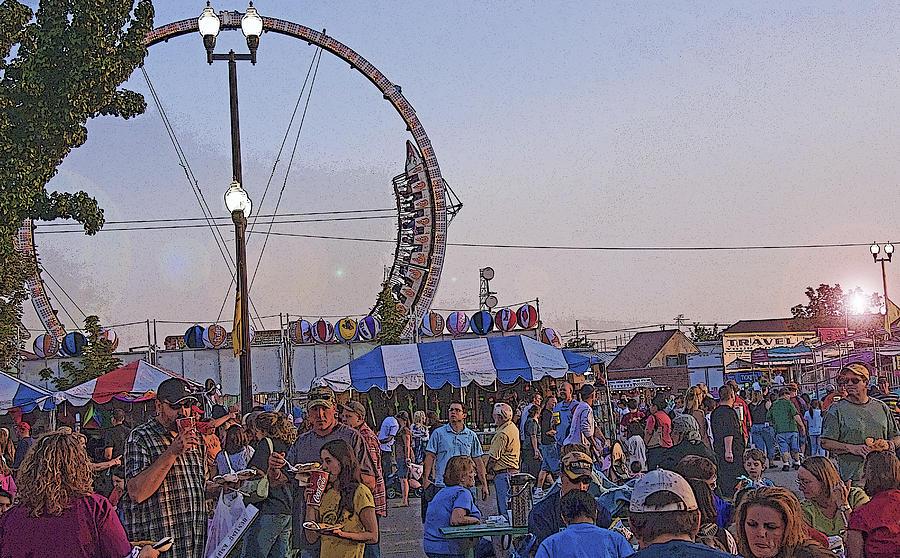Fair Photograph - A State Fair Dusk by Steve Ohlsen