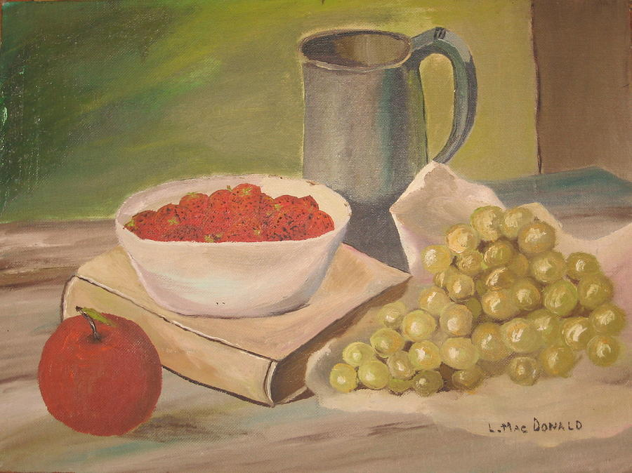 Still Life Painting - A Still Life by L A Raven