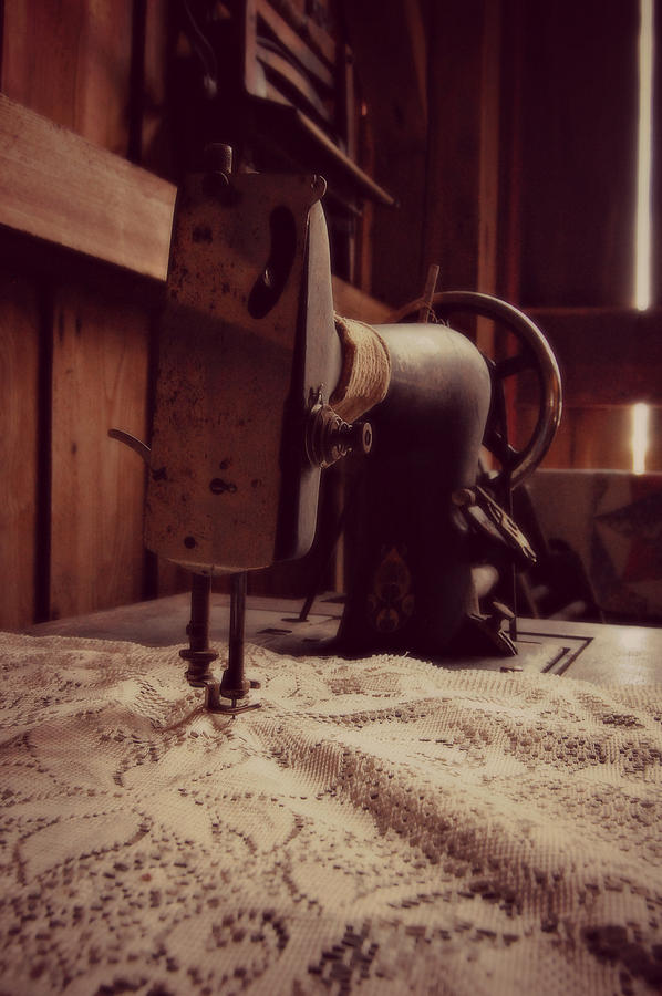 Sewing Machine Photograph - A Stitch In Time by Amy Schauland