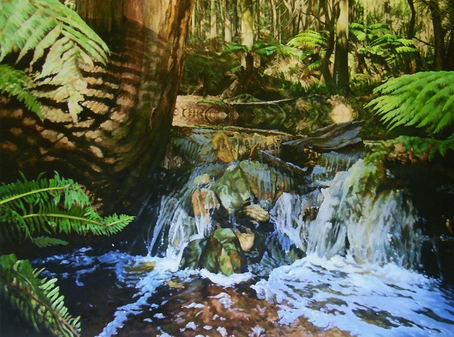 A Stream Runs Through It Painting by Edward Dyas