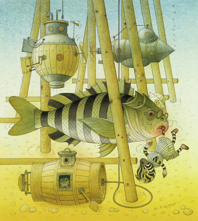 A Striped Story07 Painting by Kestutis Kasparavicius