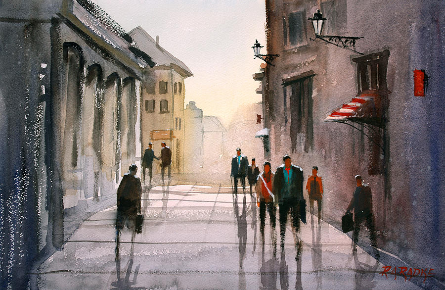 Cityscape Painting - A Stroll In Italy by Ryan Radke
