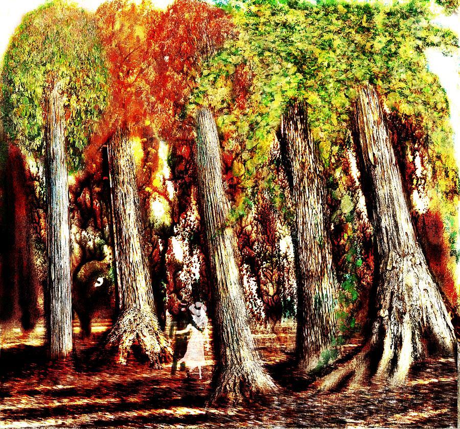 Boy Digital Art - A Stroll Through The Woods by Mark Conrad