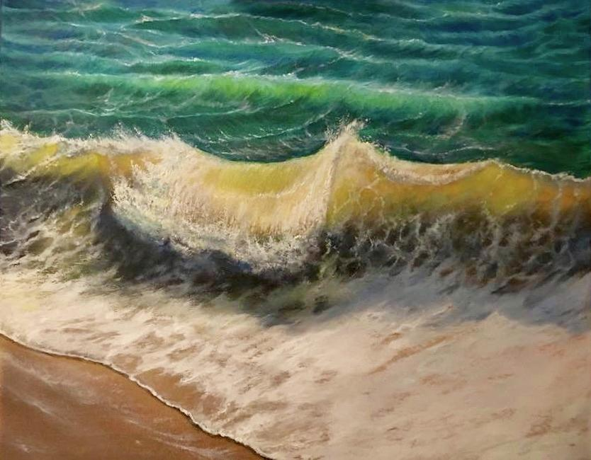 Seascape Painting - A Study Of Water by FA Chekki