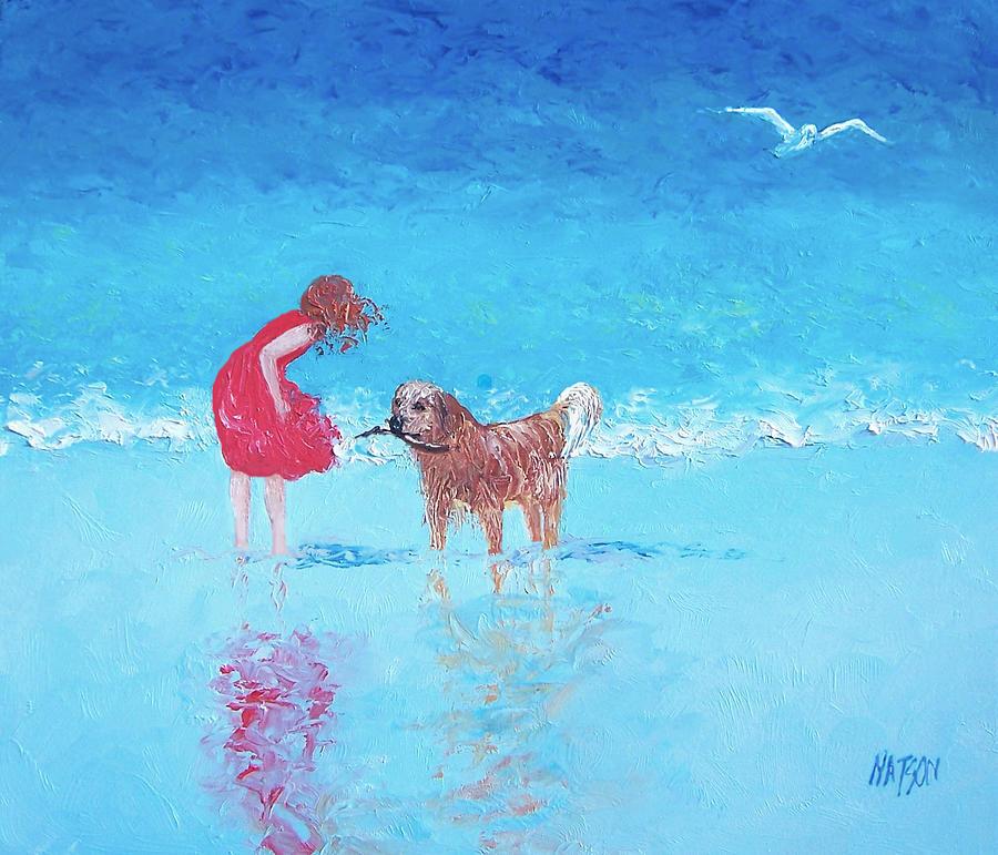 Beach Painting - A Summer Breeze by Jan Matson
