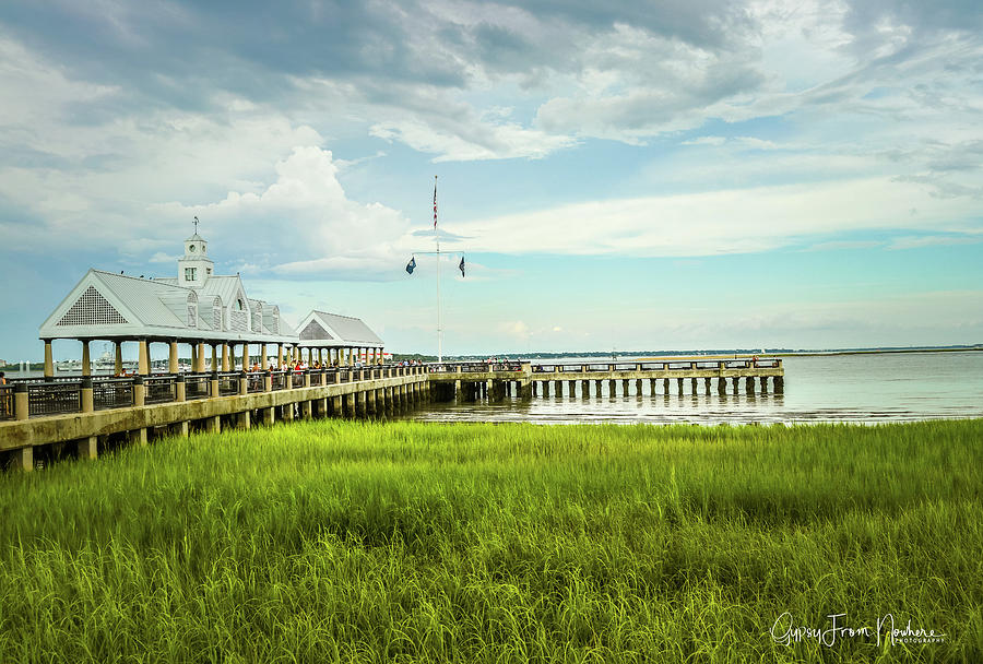 Bridge Photograph - A Summer Evening In Charleston by Dana Foreman