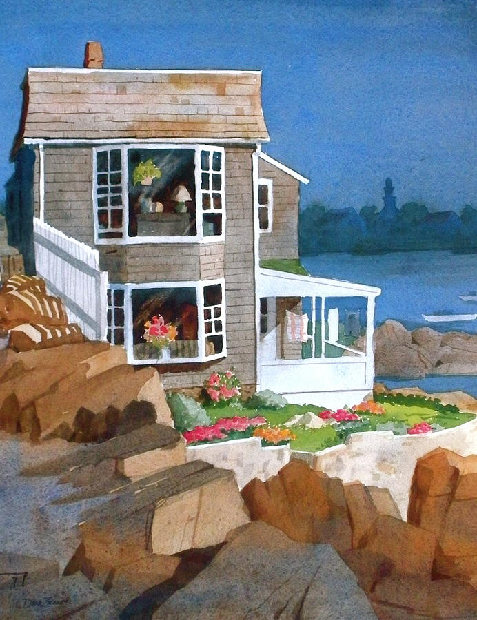 Waterfront Painting - A Summer Place by Faye Ziegler