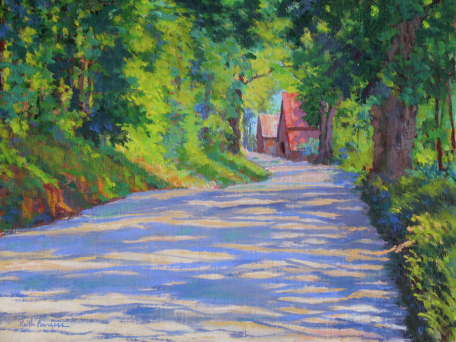 Landscape Painting - A Summer Road by Keith Burgess