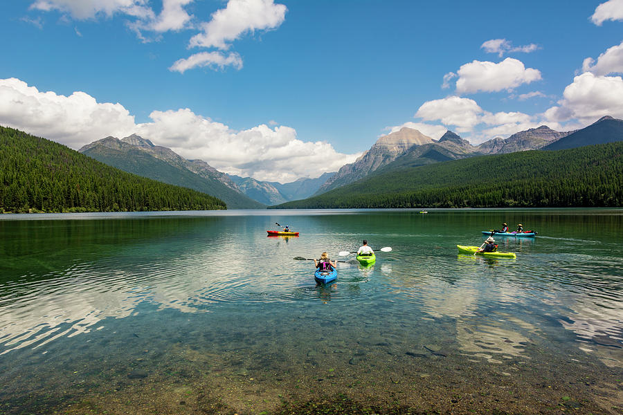 Bowman Lake Photograph - A Summers Day in the Park by Bryan Spellman
