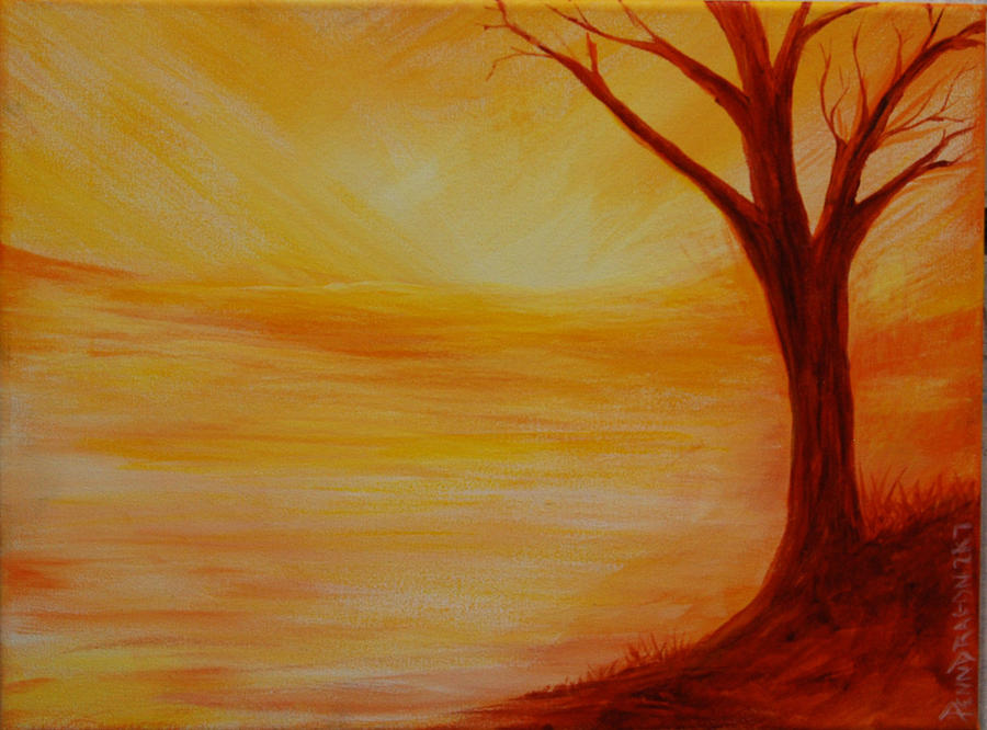...a Sun Sets Painting by Amy Stewart Hale