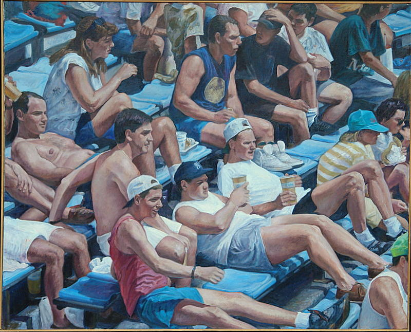 Yankee Stadium Bleachers Painting - A Sunday Crowd by James Sparks