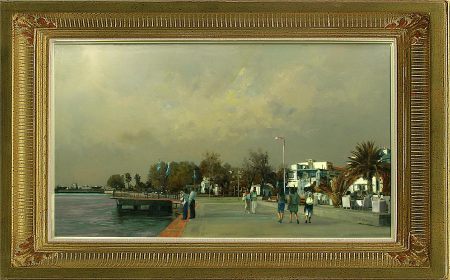 Chalkidiki Painting - A Sunny Day In Moudania. by Demetrios Vlachos