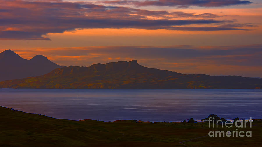 A Sunset View To Rhum And Eigg Photograph