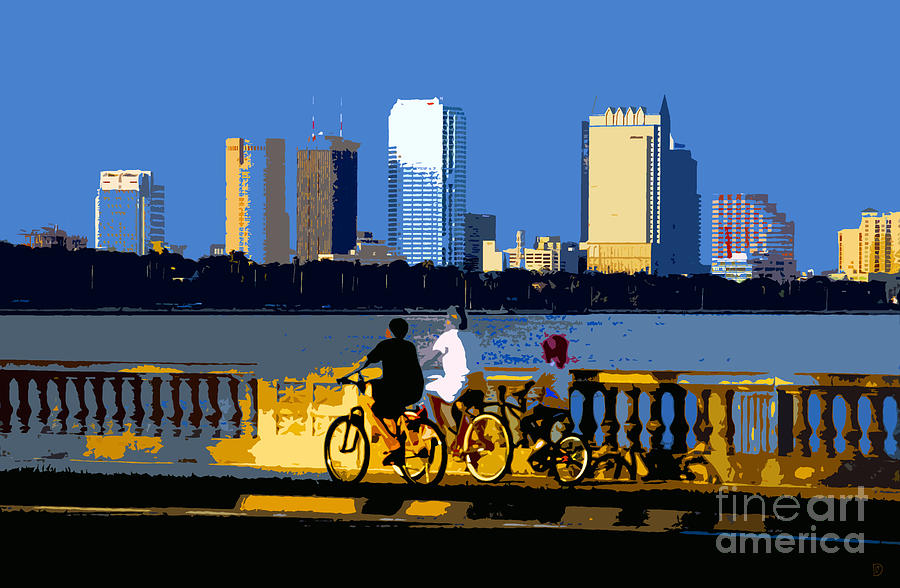 City Painting - A Tampa Bay Florida Summer by David Lee Thompson
