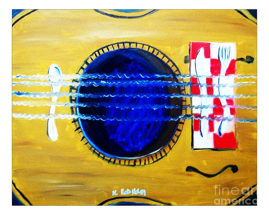 Music Painting - A Taste In Music by Nathan Rodholm