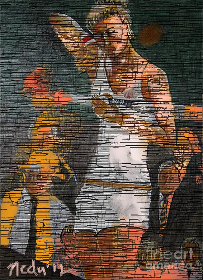 Art Online Painting - A Tennis Player by Nedunseralathan R