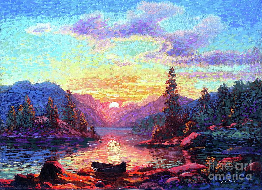 Sunset Painting - A Time For Peace by Jane Small